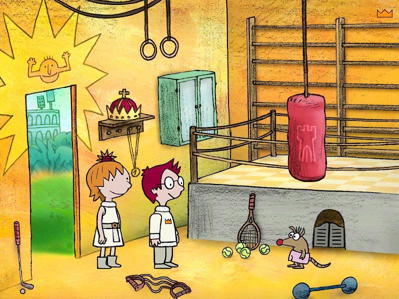 Screenshot przykładowej planszy w grze